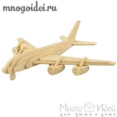 Деревянный конструктор 3D Самолет