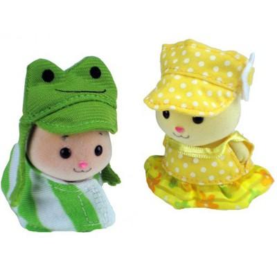 Костюмчики для хомячков малышей. Лягушенок и желтое платье.
