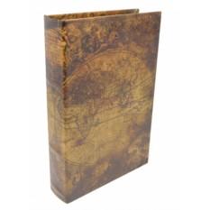 Большая деревянная книга-шкатулка Вокруг света