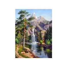 Алмазная вышивка «Горный водопад»