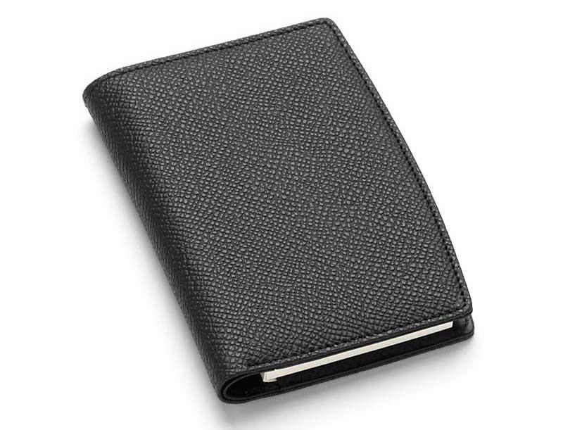 Кожаная черная записная книжка Graf von Faber-Castell