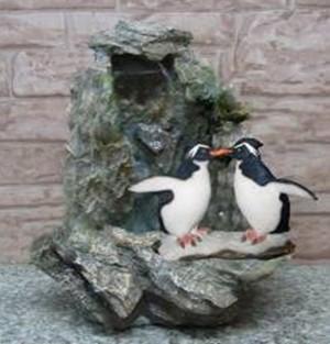 Фонтан с помпой Веселые Пингвины