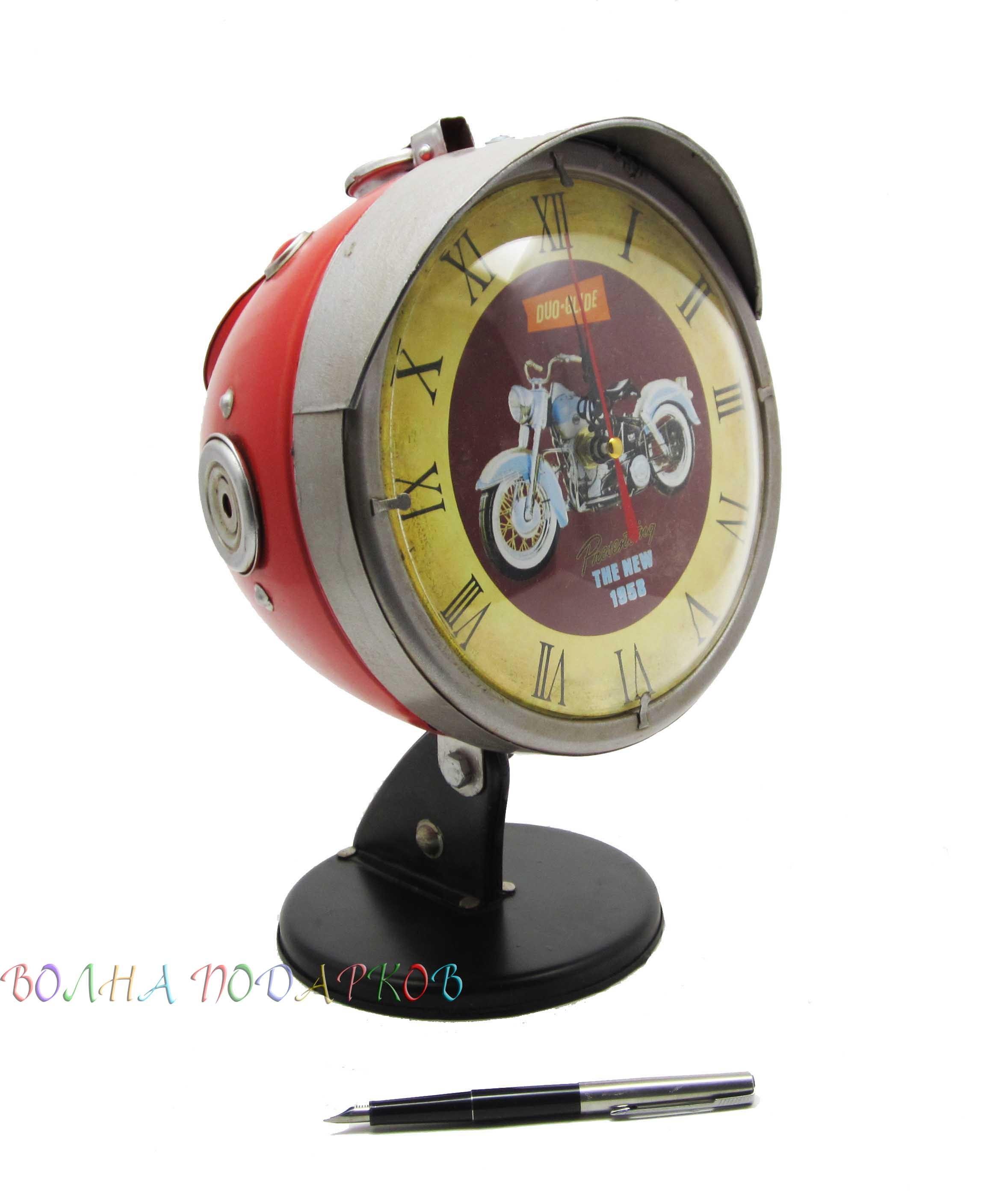Настольные часы Фара мотоцикла