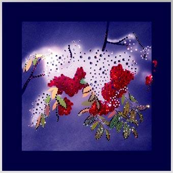 Картины из кристалов Сваровски «Рябина»
