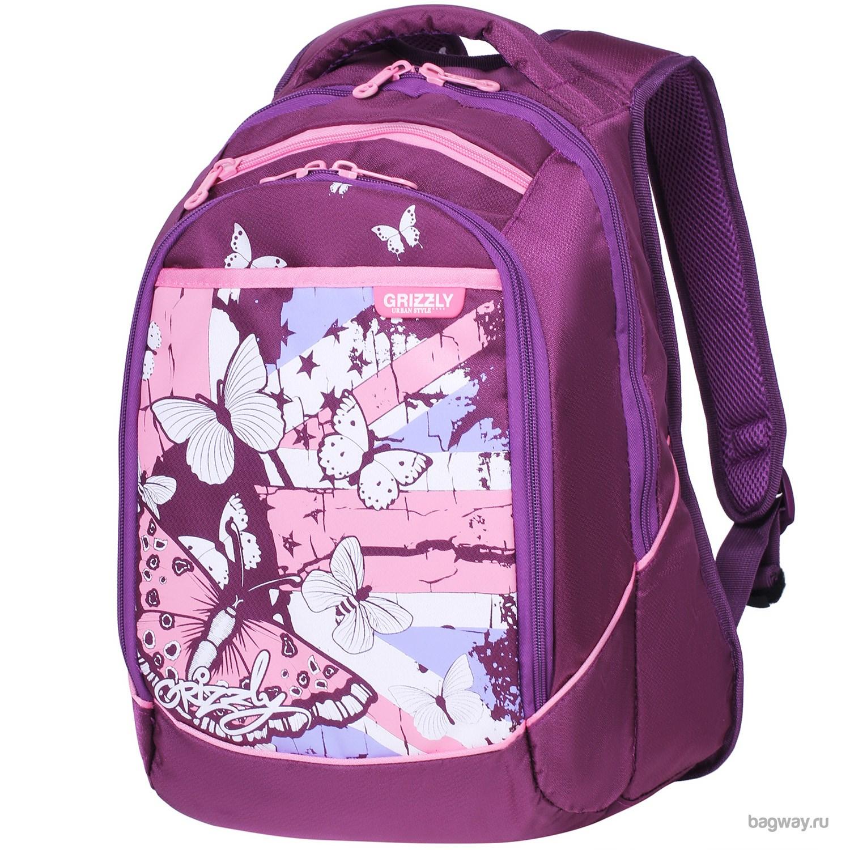 Фиолетовый рюкзак Grizzly Young