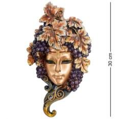 Венецианская маска Виноград (цвет — фиолетово-золотой)