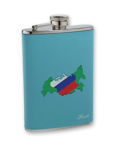 Металлическая фляга S.Quire Карта России