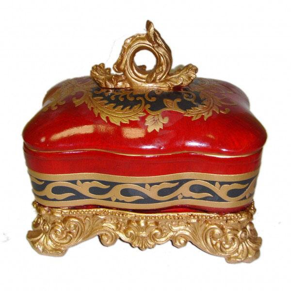 Керамическая шкатулка «Красный ларец»