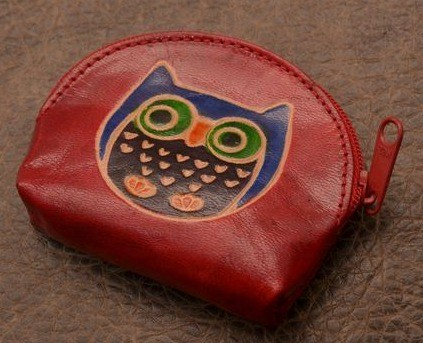Монетница Socotra (Красная сова; тип 1; кожа)