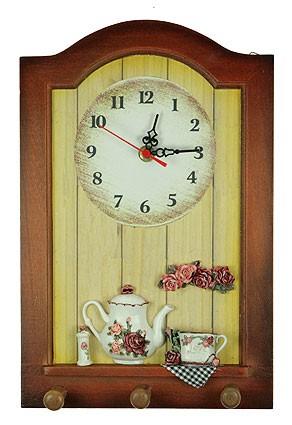 Коллаж-часы Розы (3 крючка)