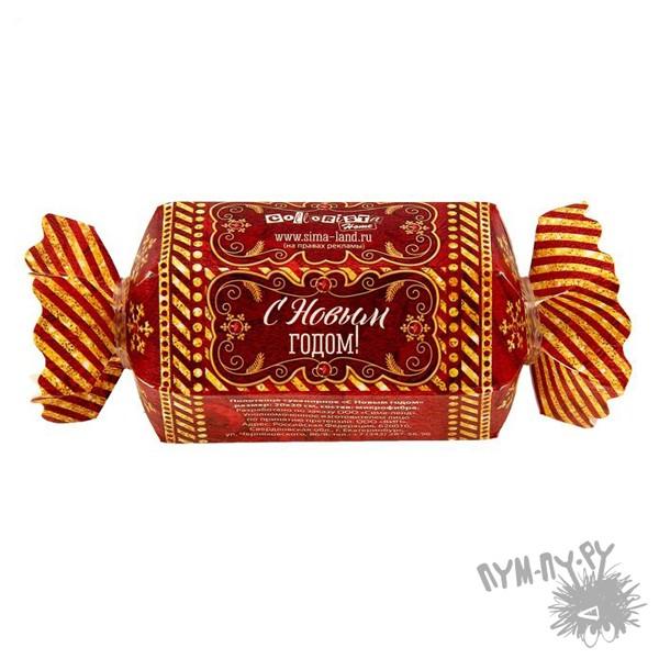 Сувенирное полотенце-конфета С новым годом