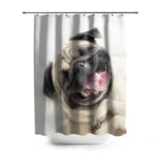 Штора 3D для ванной Смешная собачка