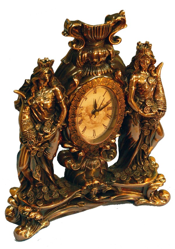 Статуэтка с часами Две фортуны