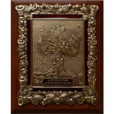 Деревянная ключница Денежное дерево