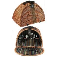 Набор для пикника в плетеном чемодане