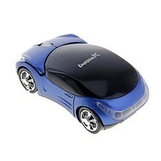 Беспроводная отпическая мышка Машина, синяя