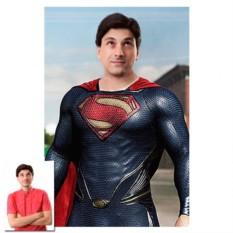 Портрет по фото в образе супергероя