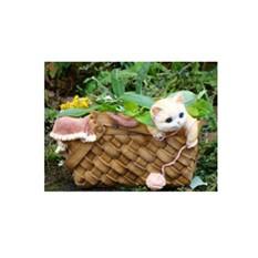Кашпо «Котенок в лукошке»