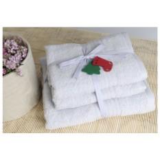Серое банное полотенце