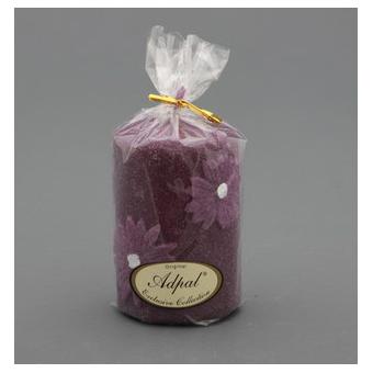 Свеча «Маргаритка»  8*6 велюр фиолетовая