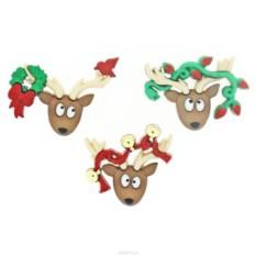 Декоративные пуговицы Dress it up Новогодние олени