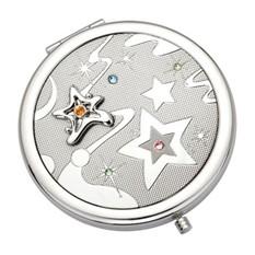 Косметическое круглое зеркало Звездочки