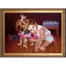 Красивый портрет девочки 1,5-3 лет