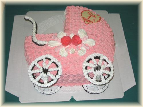 Торт «Коляска»