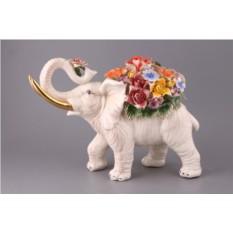Статуэтка Слон с цветами