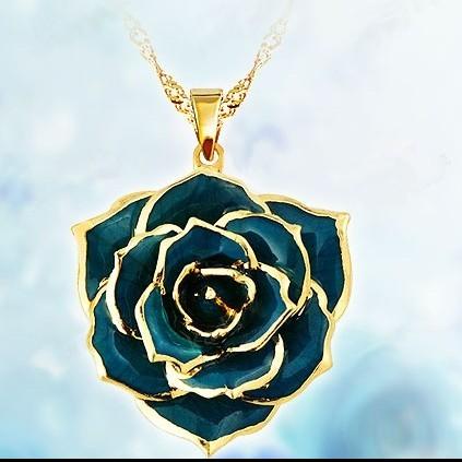 Кулон Синяя Роза