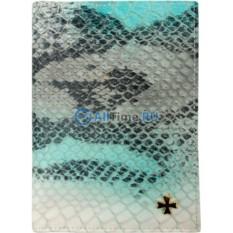Обложка на паспорт из кожи под крокодила Narvin