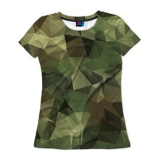 Женская футболка 3D с полной запечаткой Камуфляж