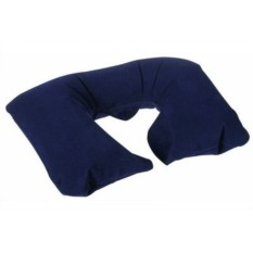 Дорожная надувная синяя подушка