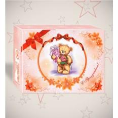 Красочная подарочная коробка «С Праздником»