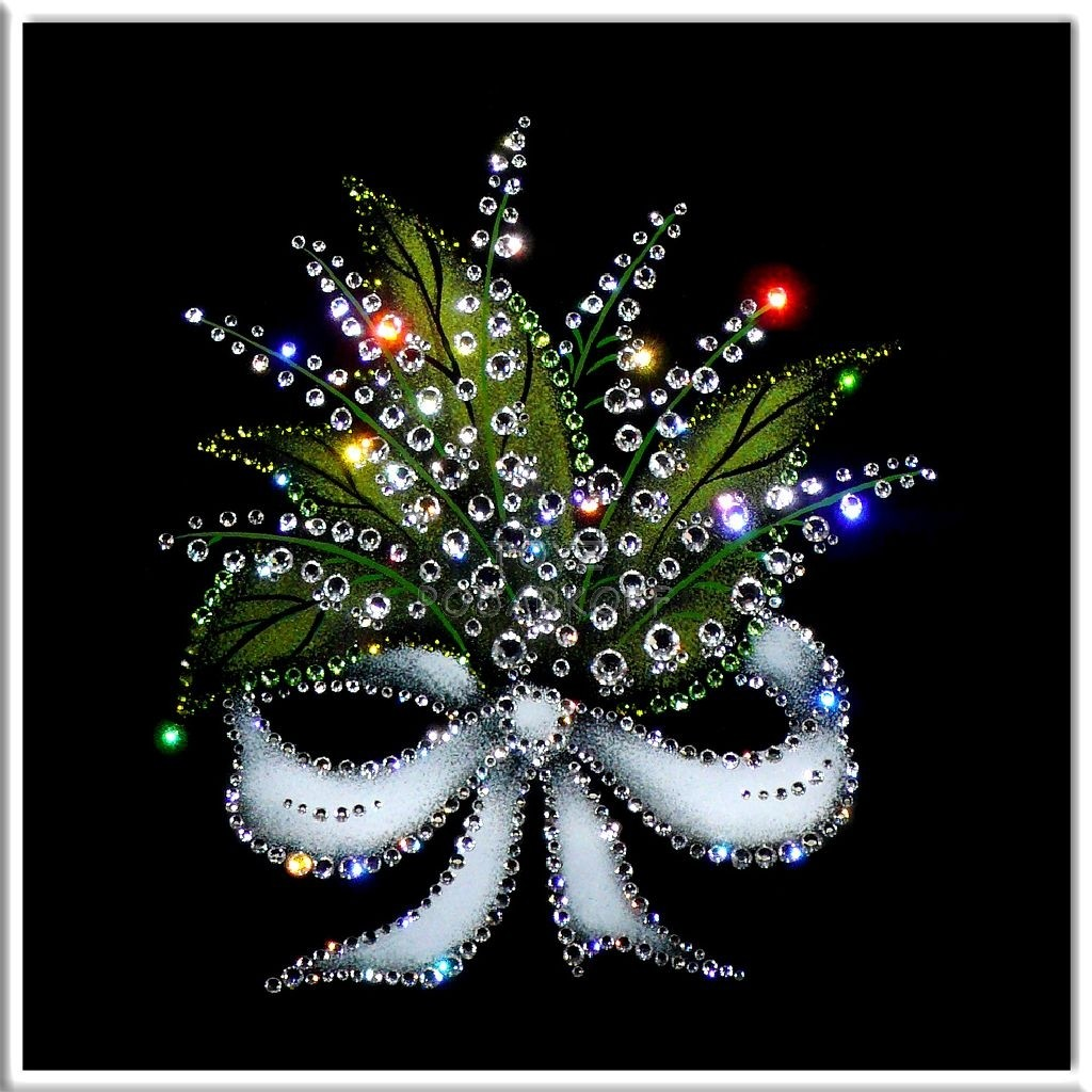 Картина с кристаллами Swarovski  Ландыши