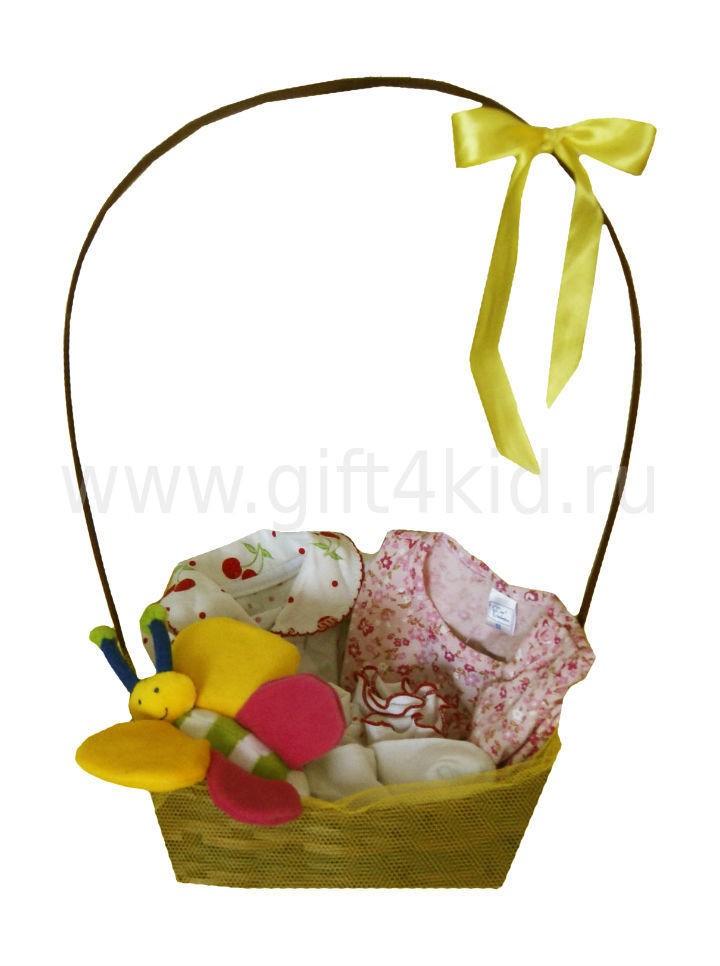 Подарочная корзина для девочки Бабочка