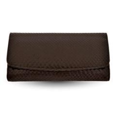 Женский кошелек из кожи питона (цвет - черный)