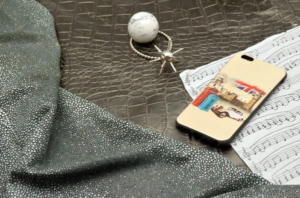 Чехол для iPhone 6 Plus силиконовый TPU (черный, Лондон)