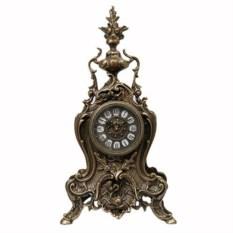 Часы из бронзы с кубком и рыбой