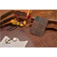 Кожаная обложка для документов Плитка шоколада