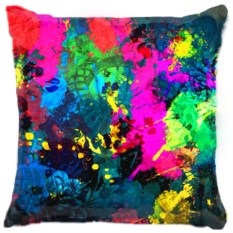 Подушка Брызги красок