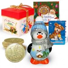 Набор с новогодней свечой «Пингвин»