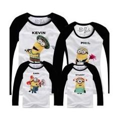 Семейные футболки с длинным рукавом Мы – Миньоны