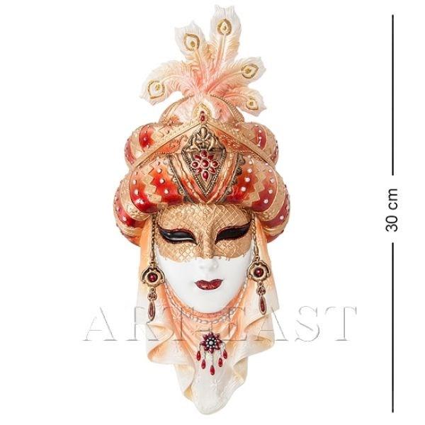 Венецианская маска Шахерезада (цвет: бело-золотой)