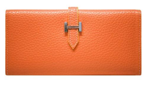 Оранжевый кошелек Clasp