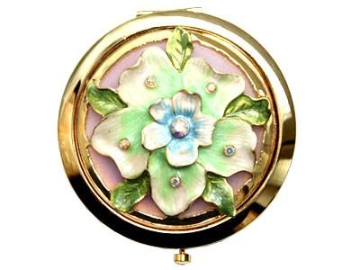 Зеркало складное, обычное и косметическое, с цветком