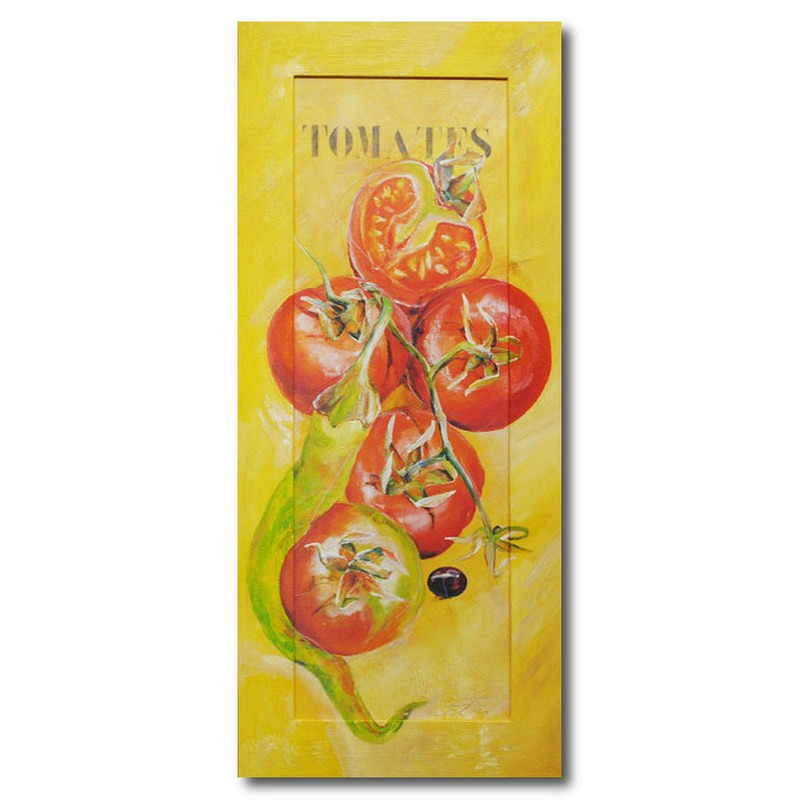 Репродукция с подрисовкой на раме Кухня, томаты