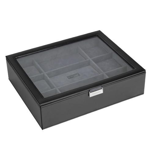Черная шкатулка для хранения 15 часов LC Designs