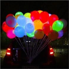 Набор из десяти светящихся воздушных шариков