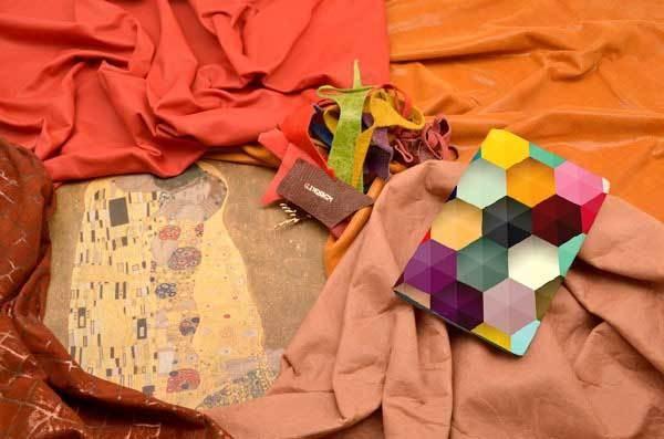 Кожаный кардхолдер-книжка Разноцветный паттерн
